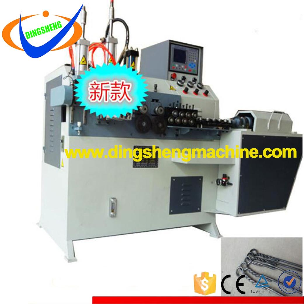 Single loop bale tie machine for waste carton